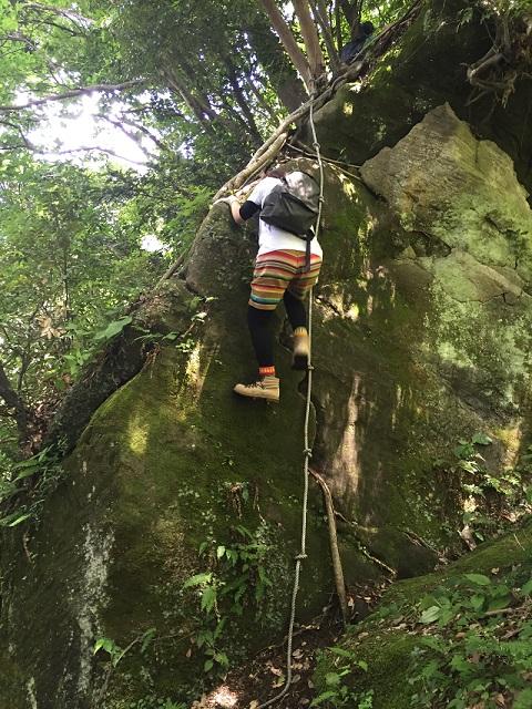 鋸山アドベンチャーコース垂直岩