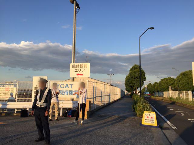 横浜開港祭YCATバス駐待機場