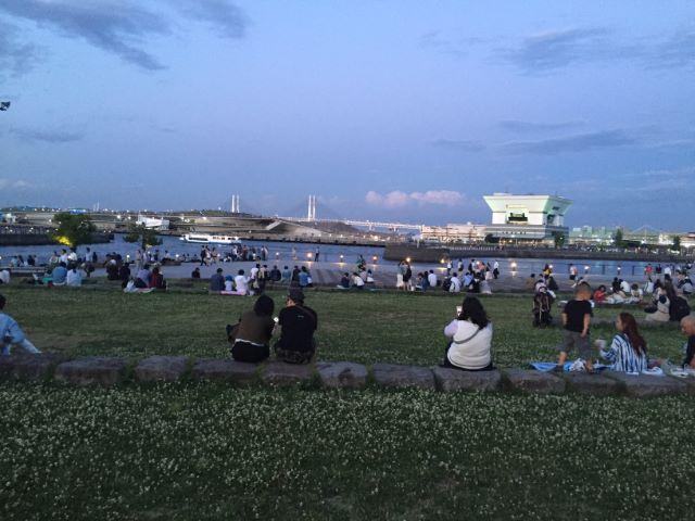 横浜開港祭花火大会象の鼻パーク