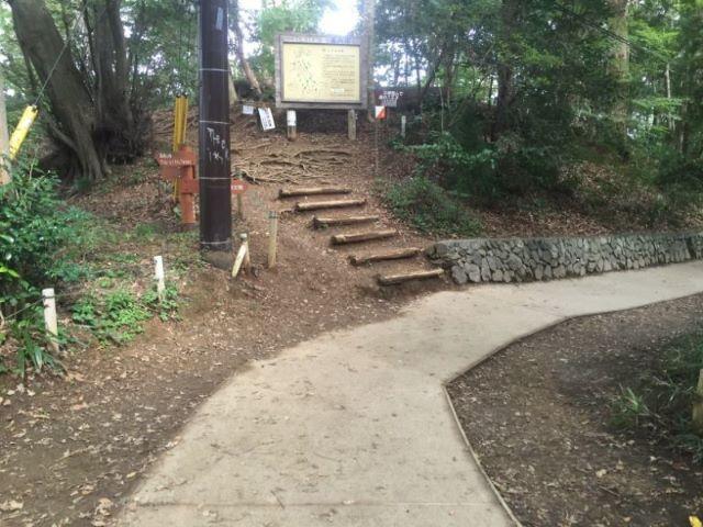 高尾山1号路舗装路