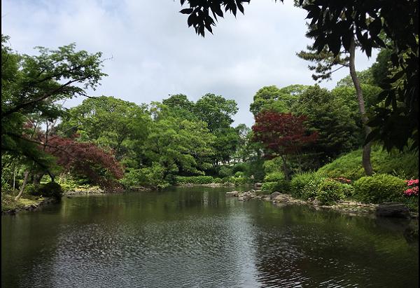 有栖川公園池渓流