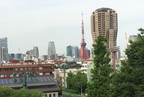 有栖川公園カフェランチ東京タワー