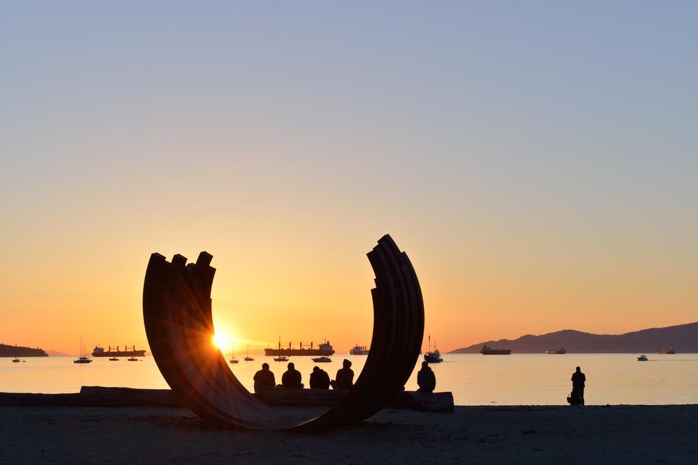 バンクーバー,夕日,サンセットビーチ